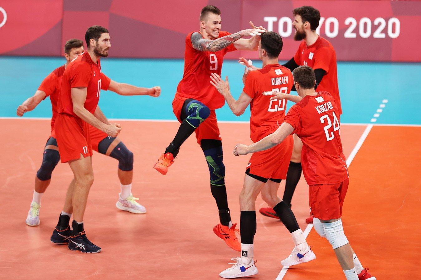 Мужская сборная России по волейболу вышла в финал Олимпиады-2020, победив Бразилию