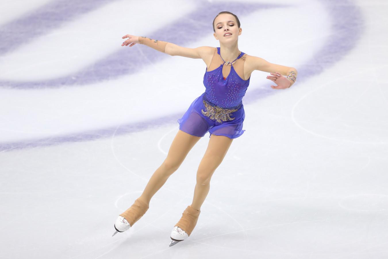Фигуристка Щербакова выиграла короткую программу на ЧР, Трусова — четвёртая