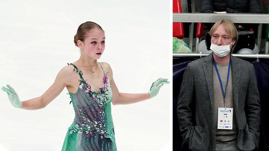 Плющенко мило пообщался с Трусовой после проката на Гран-при России