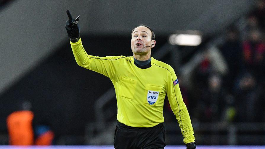 Первый матч сборной России на Евро обслужит испанский арбитр