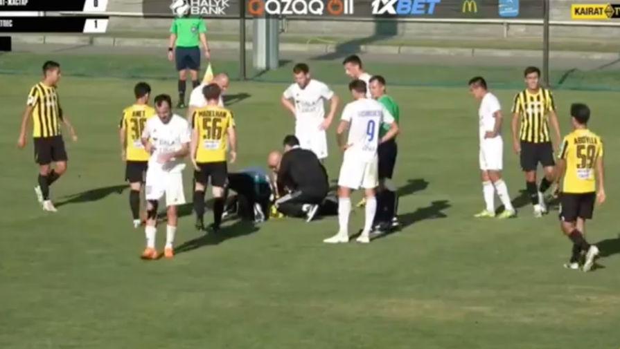 Футболист казахстанского 'Кайрат-Жастар' потерял сознание во время матча
