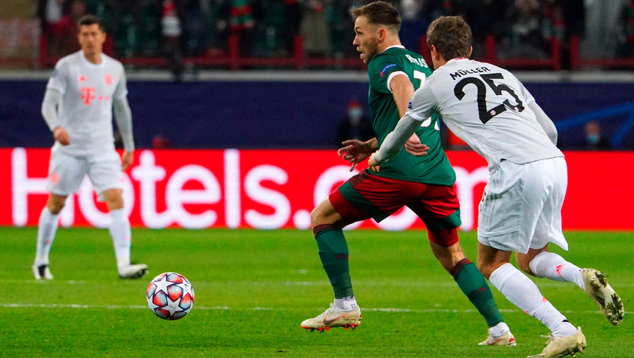 'Локомотив' в матче Лиги чемпионов бил в створ ворот чаще 'Баварии'