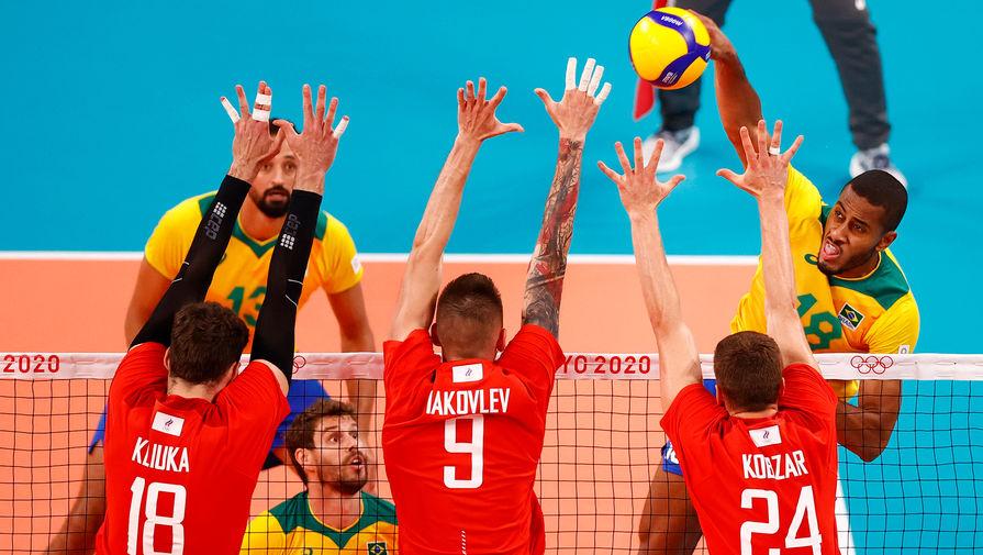 Российские волейболисты уверенно переиграли бразильцев на Олимпиаде в Токио