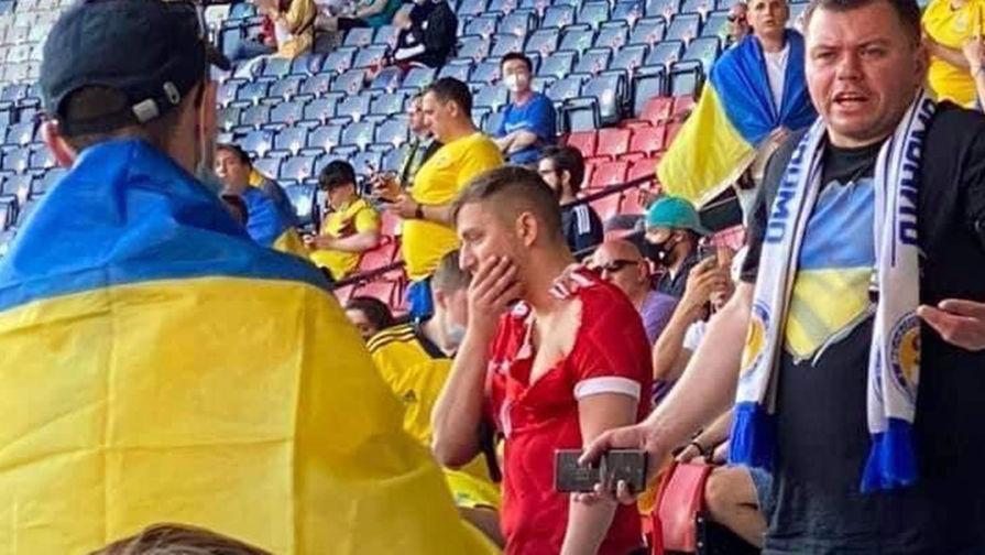 Пострадавший российский болельщик дал интервью перед матчем Украина — Швеция