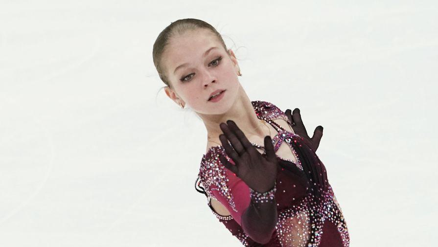 Появилось видео проката Трусовой в произвольной программе в Казани