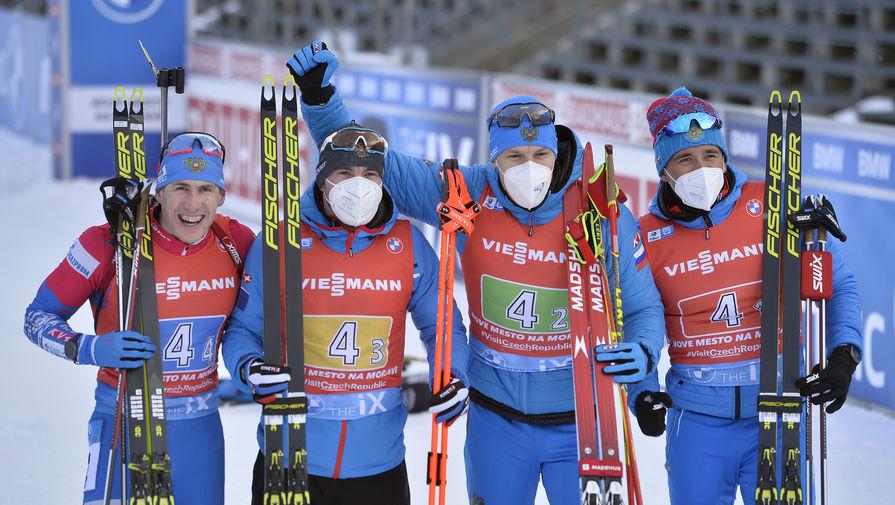 Мужская сборная России по биатлону заняла четвертое место в зачете Кубка наций