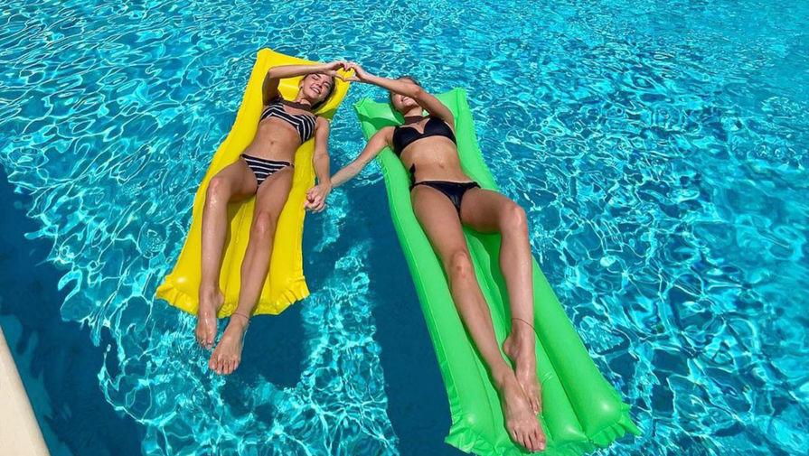 Сестры Аверины показали, как проводят отпуск после Олимпиады