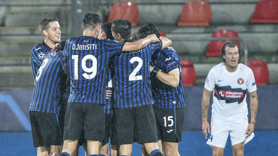 'Аталанта' сыграла вничью с 'Мидтьюлланном' в матче Лиги чемпионов