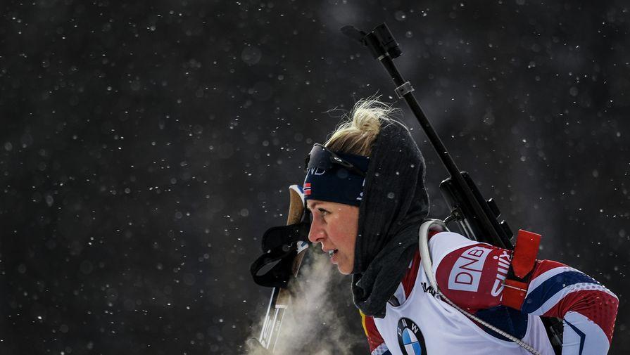 Норвежка Экхофф выиграла гонку преследования на этапе Кубка мира в Нове-Место