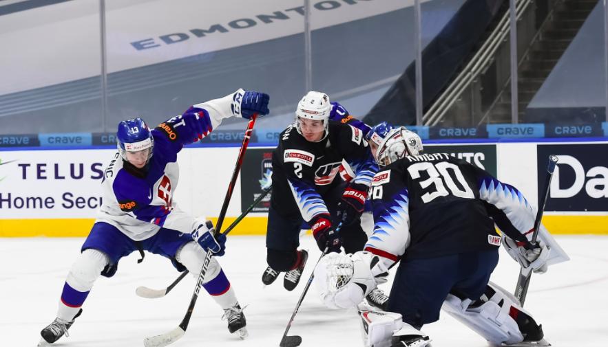 Сборная США разгромила Словакию в четвертьфинале чемпионата мира