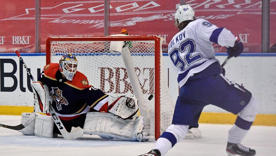 Россиянин Александр Волков забросил свою вторую шайбу в НХЛ