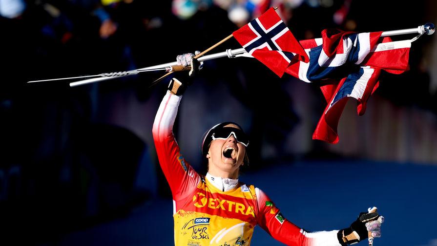 Йохауг победила в гонке с раздельным стартом на этапе Кубка мира