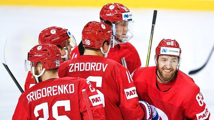 Сборная России разгромила Белоруссию и стала победителем группы A чемпионата мира