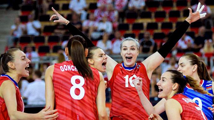 Российские волейболистки на тай-брейке обыграли Бельгию в Лиге наций