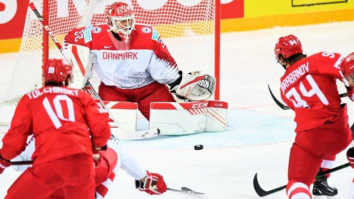 Россия обыграла Данию на чемпионате мира
