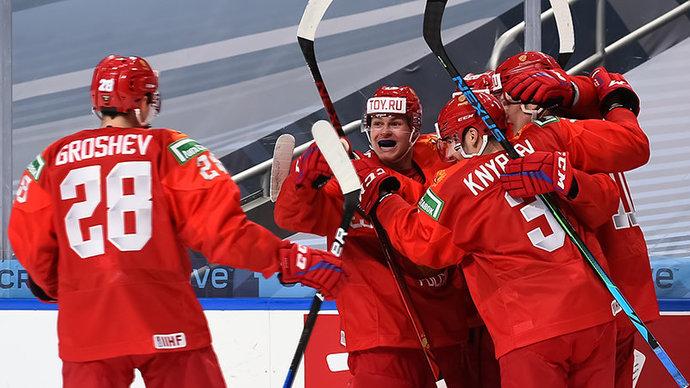 Сборная Россия обыграла Швецию и поднялась на 1-е место в группе В