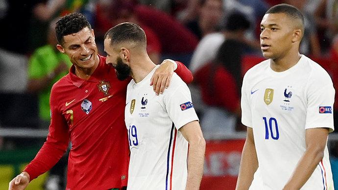 Португалия сыграла вничью с Францией. Роналду и Бензема оформили по дублю