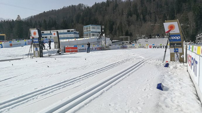 Время старта первых гонок на ЧМ по лыжному спорту изменено из-за теплой погоды в Оберстдорфе