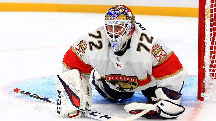 Хоккеисты «Флориды» оригинально отметили 500-й матч Бобровского в НХЛ