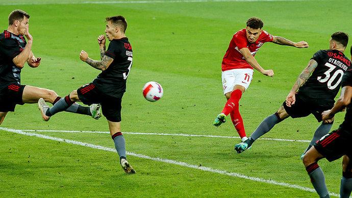 «Спартак» дома проиграл «Бенфике» в матче Лиги чемпионов