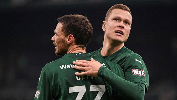Российские клубы одержали лишь одну победу в 26 матчах основной стадии еврокубков в нынешнем сезоне