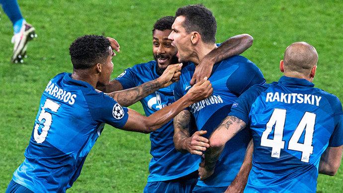 Дзюба и Жирков — в старте «Зенита» на матч Лиги чемпионов с «Лацио»