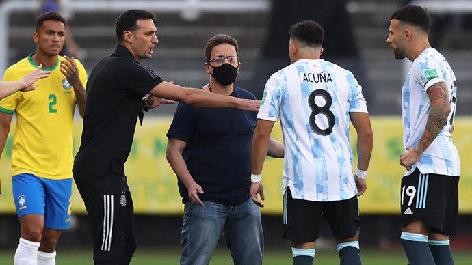 Официально: Матч Бразилия — Аргентина приостановлен