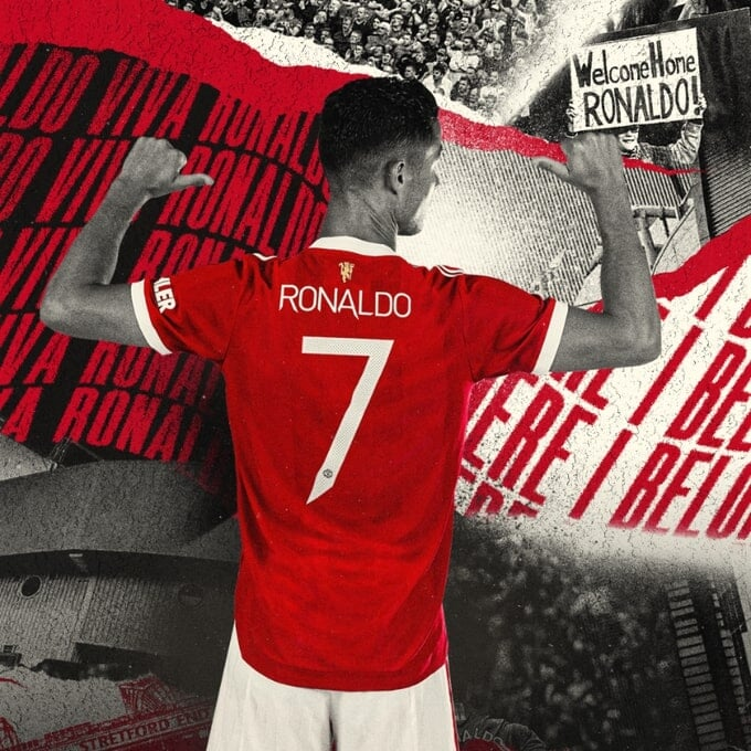 Роналду взял 7-й номер в «Манчестер Юнайтед»