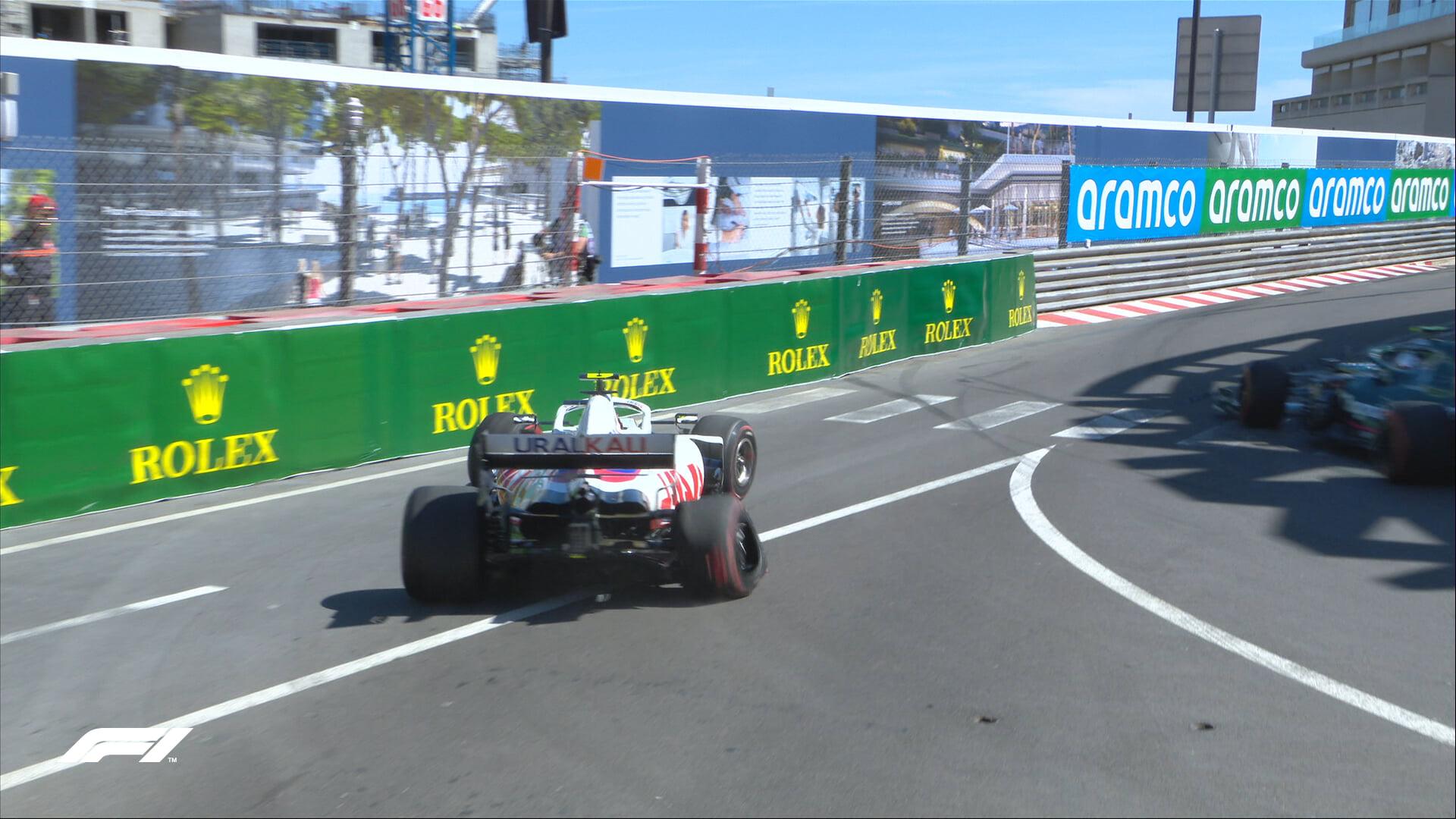 Шумахер разбил болид «Хааса» в конце второй практики перед Гран-при Монако