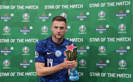 Шкриньяр – игрок матча Польша – Словакия. Защитник «Интера» забил победный гол
