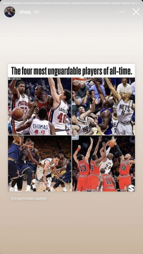 Шакил О'Нил назвал четырех игроков в истории НБА, против которых сложнее всего защищаться