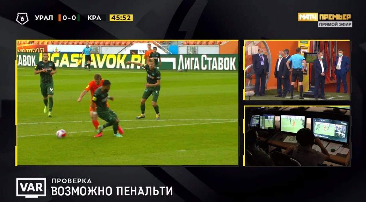 Сафонов отбил пенальти Бикфалви в игре «Краснодара» с «Уралом». Казарцев назначил его после ВАР
