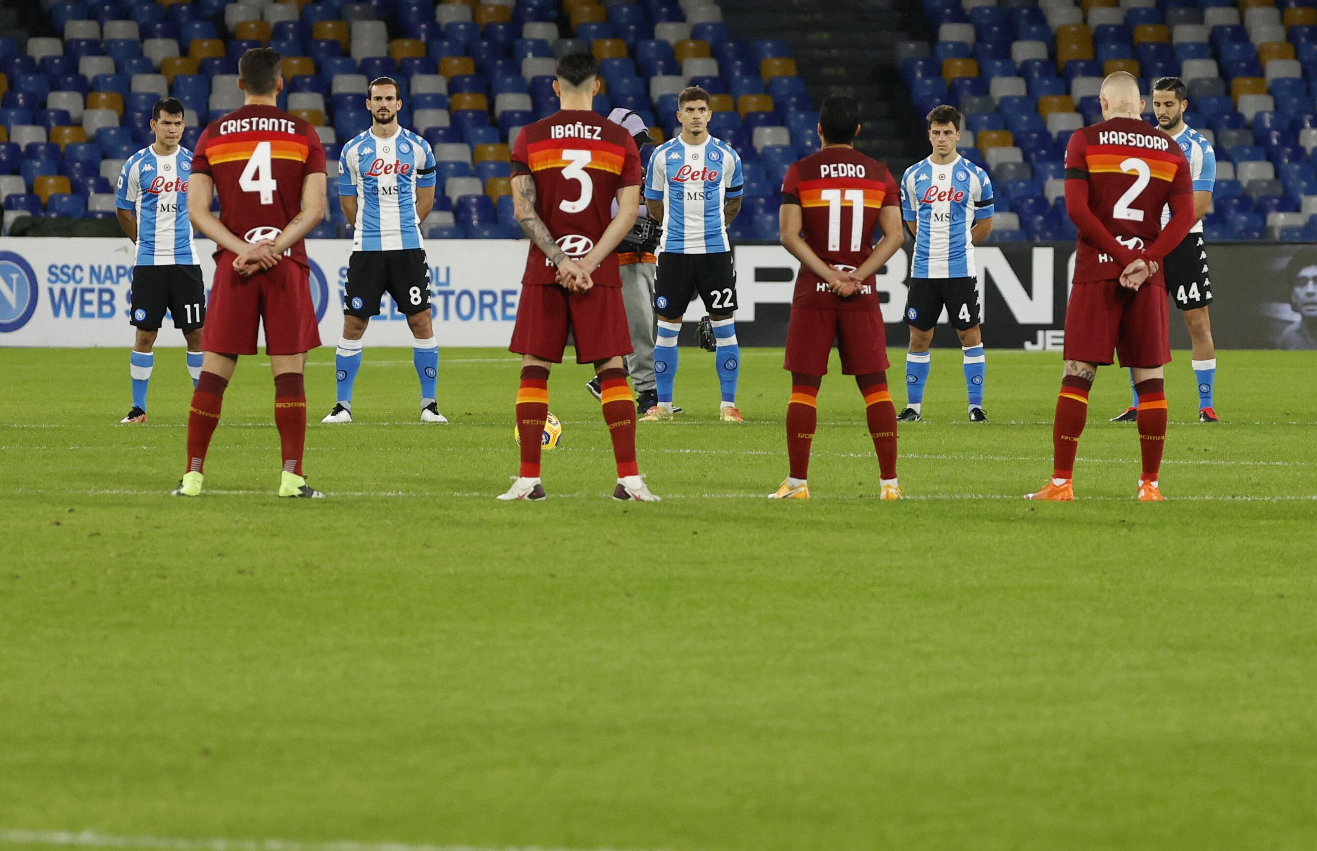 «Наполи» вышел в форме в стиле сборной Аргентины в честь Марадоны на матч с «Ромой»