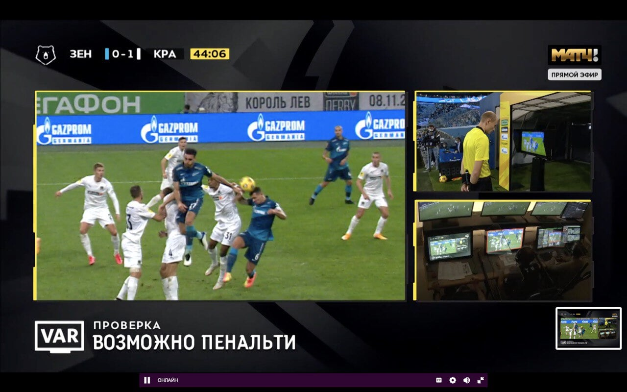 Москалев назначил пенальти в ворота «Краснодара» за игру рукой Кайо после ВАР