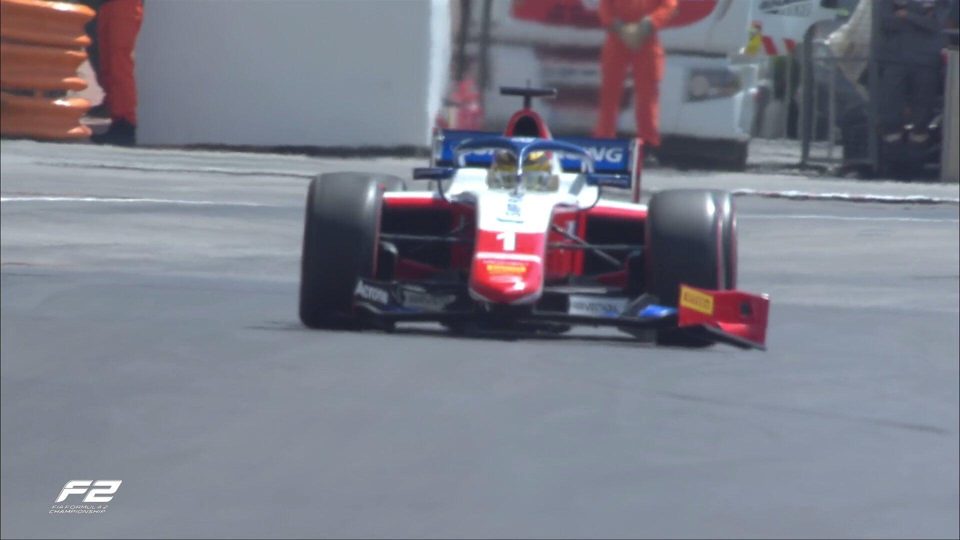 Формула-2. Шварцман сошел после аварии на первом круге 1-й гонки в Монако