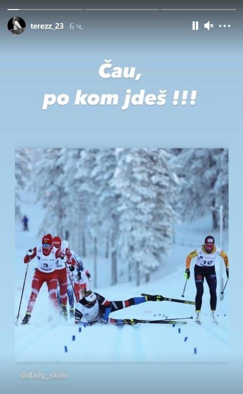 «Эй, куда прешь!» Беранова опубликовала фото падения после столкновения с Фалеевой