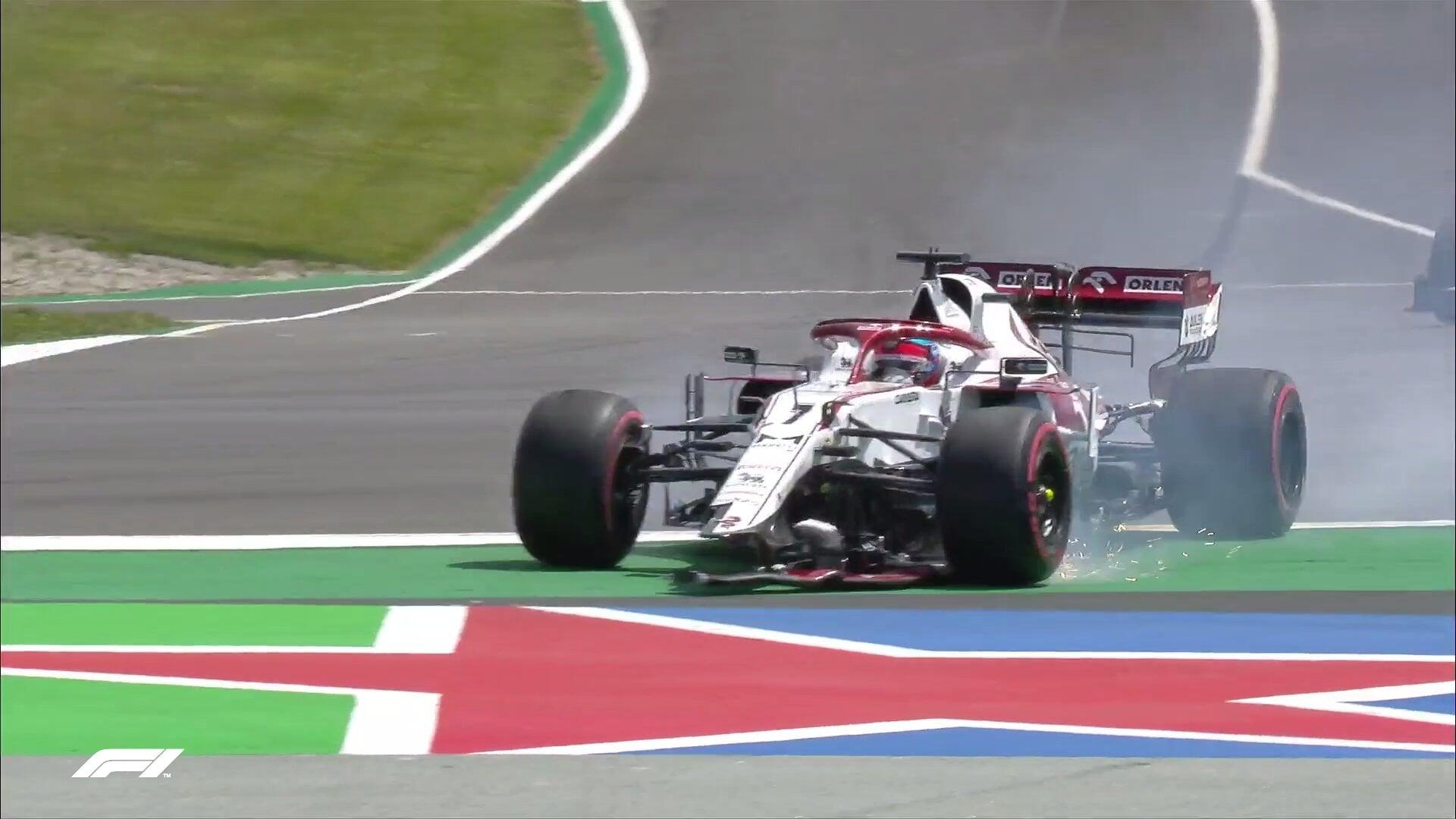 Райкконен сошел на втором круге Гран-при Португалии после столкновения с Джовинацци