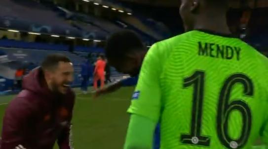 Азар со смехом пообщался с игроками «Челси» после проигранного «Реалом» полуфинала