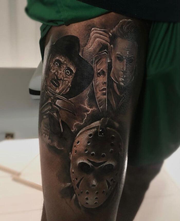 Леброн Джеймс сделал татуировку с тремя злодеями из кинофильмов, назвав их «Большим трио»