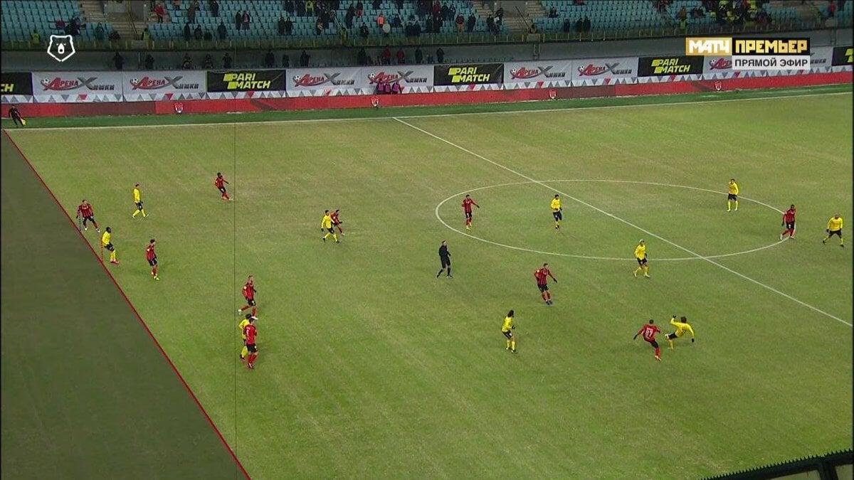 Гол «Ростова» в ворота «Химок» не засчитали из-за офсайда